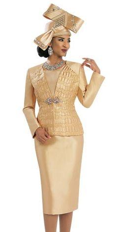 Donna Vinci 5550 Ladies Silk Look Skirt Suit Fall 2016