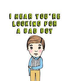 Romantic Greeting Card - Bad Boy
