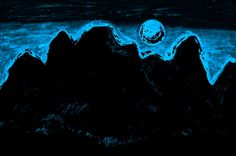 https://flic.kr/p/GGobmk | Moon Glow Over The Cascades 4 By Sherrie D. Larch | This artwork was inspired by a moonlit night over the Cascade Mountain Range in mid winter.  My Facebook Artist Page: www.facebook.com/sherriedlarch/