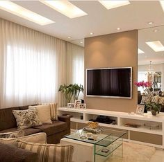 40 TV Wall Decor Ideas Luxury apartments and Marbles