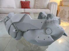 Metal Gear Rising Revengance Raiden mask by WreckdStudios on Etsy, $100.00