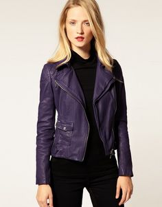 I must have this in my life!! Purple leather jacket.