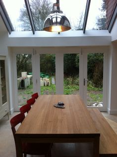 glass roofed extension
