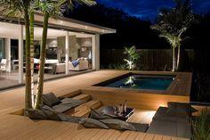 Great maintenance free decking with sunken seating!