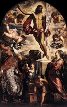 The Resurrection of Christ by Tintoretto, 1565.