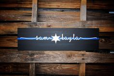 Thin Blue Line Couple First Name wood sign by KFrantaDesigns