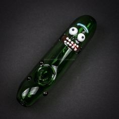 Chameleon Glass Rick and Morty Hand Pipe - Pickle Rick