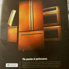 Jenn-Air appliances in oiled bronze Oil Rubbed Bronze, Appliances, Architectural Features, Copper Kitchen, Copper Kitchen Appliances, Jenn Air Appliances, Kitchen, Bronze, French Door Refrigerator