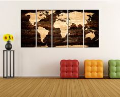 Large wall art canvas push pin world map wall art set travel map large wall art canvas push pin world map wall art set travel map large canvas art abstract map print map art print wall decor no7s02 pinterest gumiabroncs Image collections