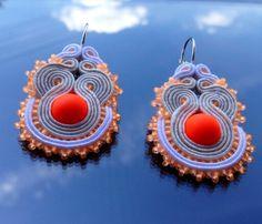 Neon soutache earring