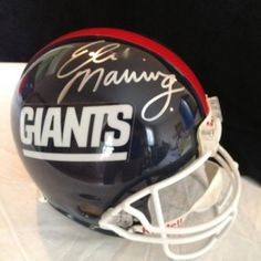 Signed Eli Manning Helmet - Psa Dna Full Size On Field Authentic Ny | Authentic Autographed