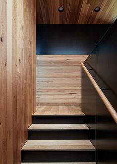 Architecture Architecture designed a small scale house in Brunswick, Melbourne, Australia. Called Dark Horse, the house measures Architecture Photo, Contemporary Architecture, Journal Du Design, Stair Detail, Dark House, Palette, Ground Floor Plan, Timber Flooring, House And Home Magazine
