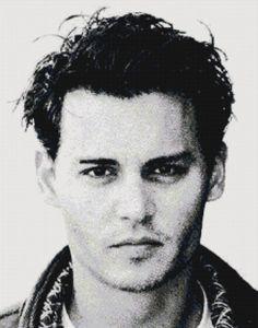 Handmade Johnny Depp PDF Cross-Stitch Pattern