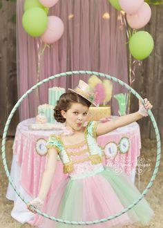 Circus Tutu Dress Ring Mistress Costume in Mint Green by EllaDynae