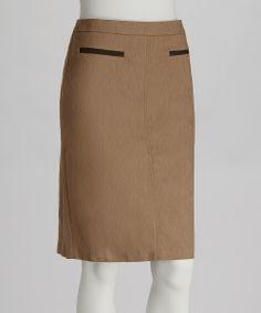 Roasted Almond Pencil Skirt