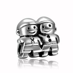 Soufeel 925 Sterling Silver Happy Brother Charms Fit Pandora Bracelets