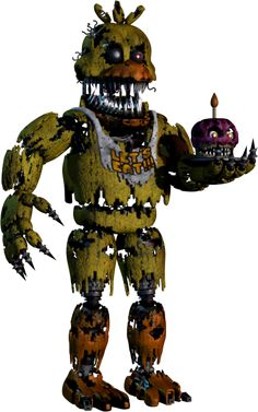 Five Nights at Freddy's 4 Nightmare Chica   Png by TheSitciXD on DeviantArt