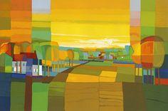 Oil Pastel Landscape, Abstract Landscape Painting, Landscape Art, Landscape Paintings, Abstract Art, Modern Art, Contemporary Art, Cityscape Art, Impressionist Art