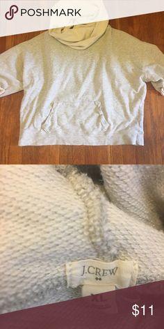 Short sleeve cowlneck sweatshirt Jcrew XL gray sweatshirt short sleeves, on the shorter size, super comfy, with a giant cowl neck J. Crew Tops Sweatshirts & Hoodies