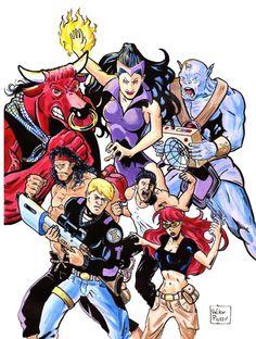 Cover Uritorco, acrílico sobre papel de bocetos, 32,5 x 21 cm, 2012 Tapa para la serie Uritorco, editada por Champion City comics (USA) y tapa del Nº 3 del fanzine Guardianes del Comic