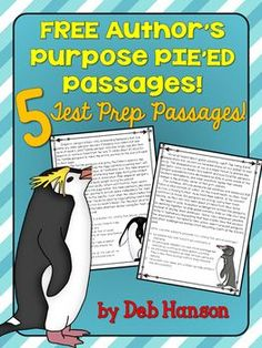 FREE Author's Purpose Test Prep Packet- Includes 5 passages and uses the PIE'ED acronym approach for upper elementary and middle school students- persuade, inform, entertain, explain, and describe Reading Lessons, Reading Activities, Reading Skills, Teaching Reading, Reading Strategies, Guided Reading, Close Reading, Teaching Ideas, Reading Resources