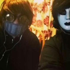 Ticci Toby & Masky cosplay