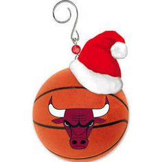 chicago bulls logo basketball christmas ornament