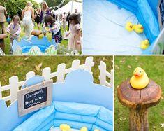 Duckies in pool --- Wedding day games