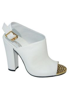 Immortal Sling Back Heels - White