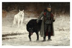 """Nach and Tag • Illustrated by Jakub """"Mr. Werewolf"""" Rozalski • Archival pigment print • Printed on Hahnemühle Fine Art Baryta 325 GSM fiber paper or Hahnemühle Fine Art 410 GSM Monet Canvas • Varying s"""