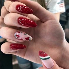 Simple Acrylic Nails, Best Acrylic Nails, Summer Acrylic Nails, Fancy Nails, Pretty Nails, Cute Almond Nails, Cow Nails, Dream Nails, Homecoming Nails
