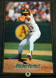 Dennis Eckersley PITCHER PERFECT Oakland A's Vintage NIKE Poster (1993) - Sold for $19.99 Nov 2013