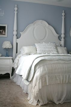 Love the bed and ruffles