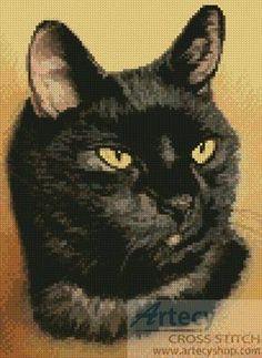 Black Cat cross stitch pattern.