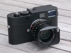 Leica Monochrome M... full frame rangefinder, shoots only in black and white. Sweet.