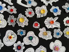 Grafisme, plastica, primavera, material recilado, grafismo creativo, primavera, flores