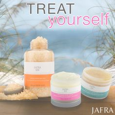 Treat yourself with JAFRA Spa this weekend. You deserve it!