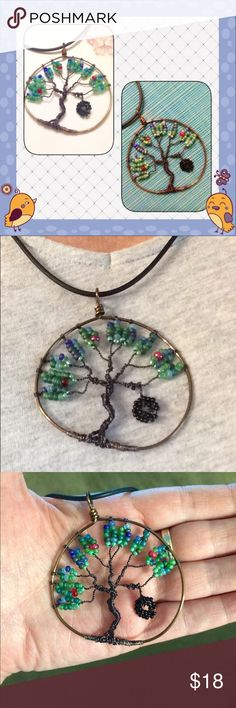Handmade Tree of Life Pendant This adorable tree of life has a character all its own. It even has a tire swing!  ACCEPTING OFFERS Jewelry Necklaces