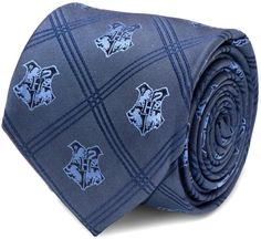 Harry Potter Hogwarts Plaid Tie in Blue