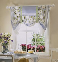 Now Sew Kitchen Shade from a Tablecloth