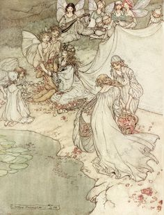 She never had so sweet a changeling. A Midsummer Night's Dream by Arthur Rackham