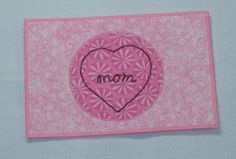Valentines postcards fabric postcards thread by SilverDoily, $10.00