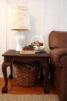 Pottery Barn Knock-off Script Lamp Shade: In the market for a new lamp--who likes this DIY one?