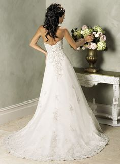 Modest Ivory Strapless Natural Waist A-Line mermaid wedding gowns dresses. Linda Dresses