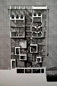 Architectural drawing at the Glasgow School of Art degree show