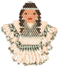 Free Bead Patterns - Indian Maiden Earrings - Fire Mountain Gems and Beads