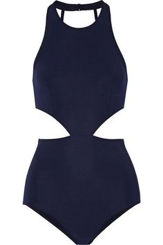 Flagpole cutout one-piece swimsuit. Love! Love! Love!