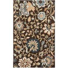 $407 Handmade Botanical Gardens Brown Wool Rug (8' x 10')