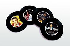 Elvis Presley Magnetic round Coasters Including by elcomdesign