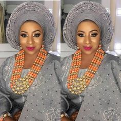 Grey Aso-oke ~DKK ~ Latest African fashion, Ankara, kitenge, African women dresses, African prints, African men's fashion, Nigerian style, Ghanaian fashion.